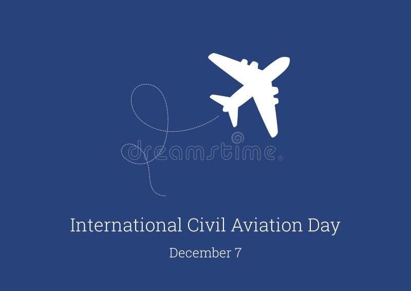 Vector internacional del día de la aviación civil libre illustration