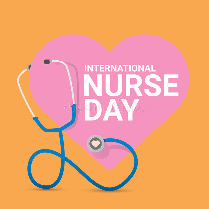 Vector international nurse day vector label vector illustration