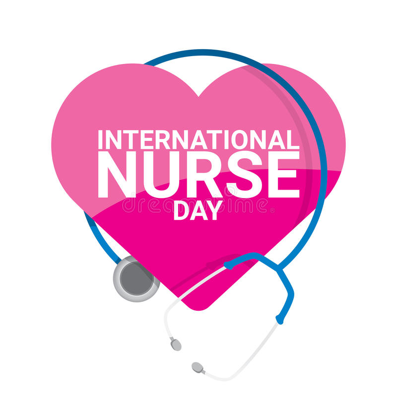 Vector international nurse day vector label stock illustration