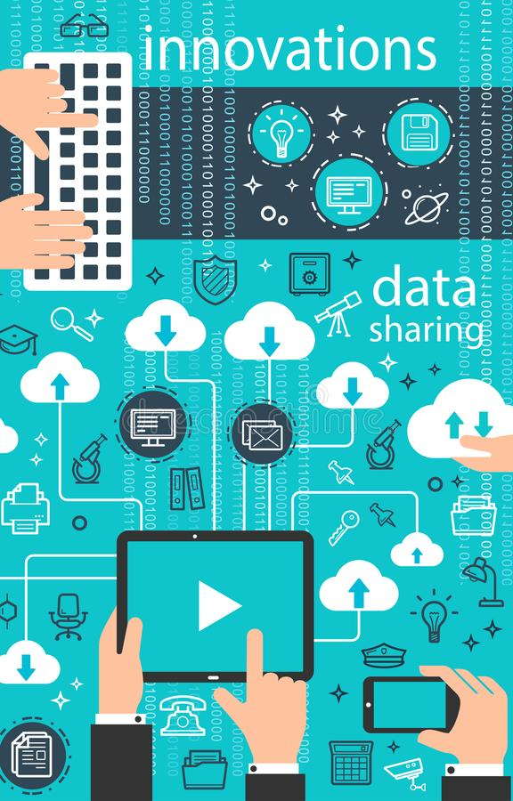 Vector internet data digital technology poster royalty free illustration