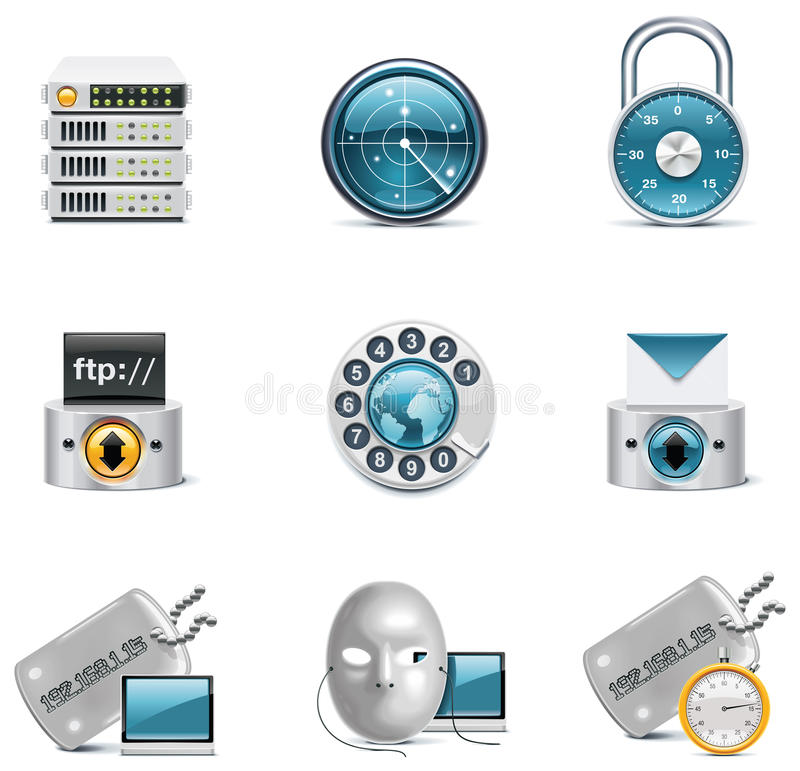Vector internet and network icons. Part 3 royalty free illustration