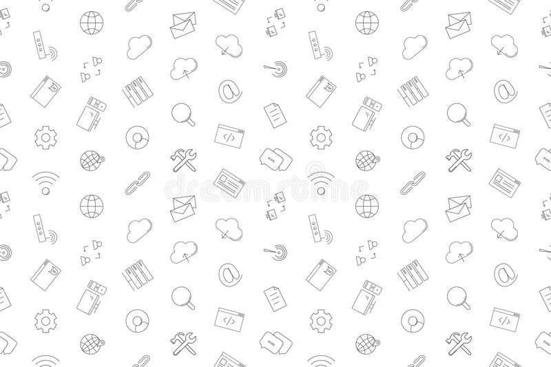 Vector Internet pattern. Internet seamless background. Vector illustration royalty free illustration
