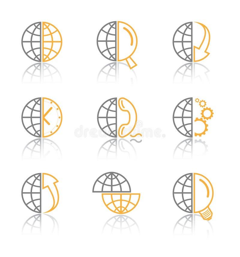 Vector Internet pictogrammen stock illustratie