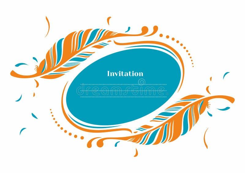 Vector Invitation template royalty free stock photo
