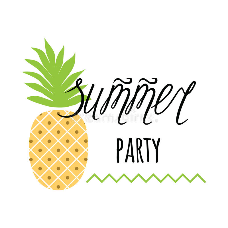 Vector invitation template with pineapple text summer party on download vector invitation template with pineapple text summer party on white stock vector stopboris Gallery