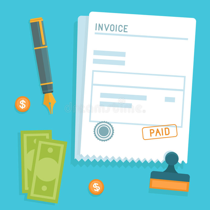Vector invoice concept in flat style vector illustration