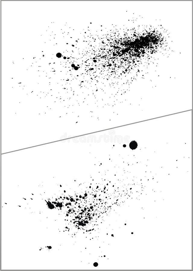 Vector inzameling van dalingen stock illustratie