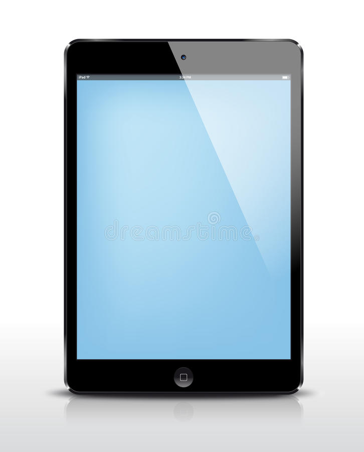 Vector iPad mini black. IPad mini realistic illustration vector illustration