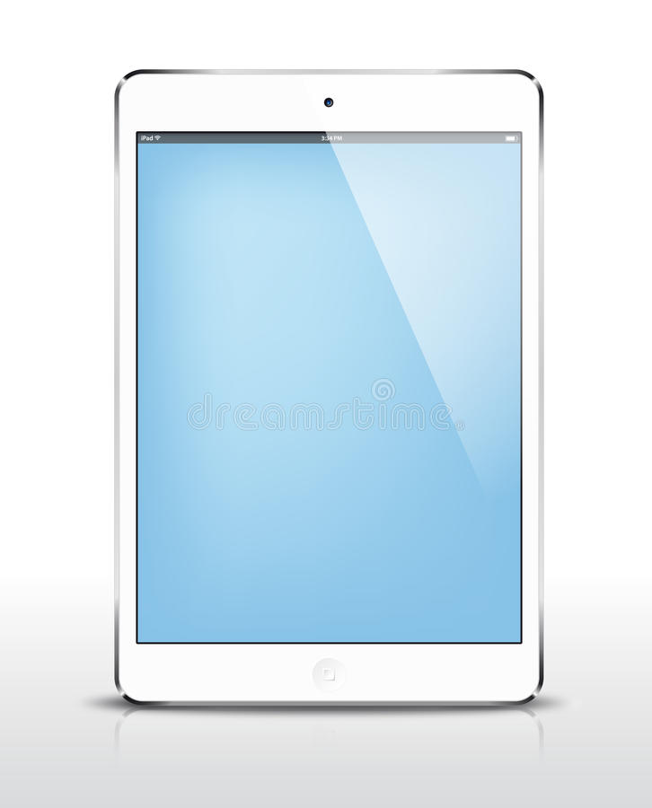 Vector iPad mini white stock vector. Illustration of ...