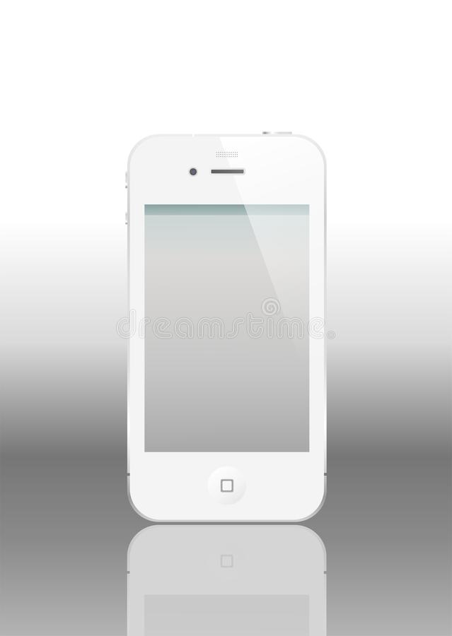 Vector iPhone 4 with empty screen. The latest generation iPhone, highly popular around the world. White iPhone 4 most anticipated in the world in 2011