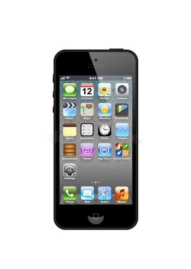 Vector IPhone 5 Editorial Stock Image
