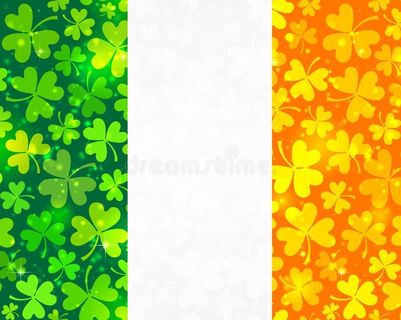 Vector Irish flag background vector illustration