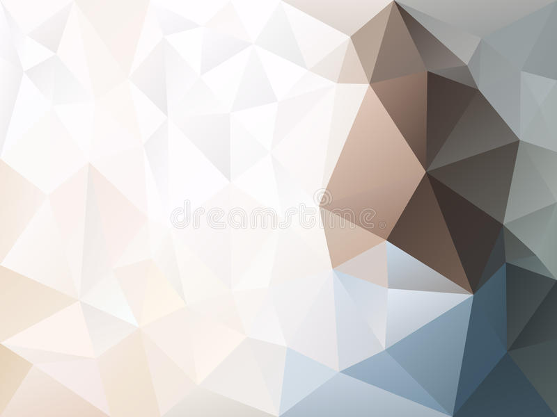 Download Vector Irregular Polygon Background With A Triangle Pattern In Light  Beige, Blue, Brown
