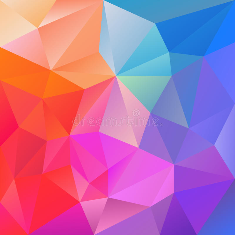 Purple Polygonal Abstract Background: Vector Irregular Polygon Background With A Triangular