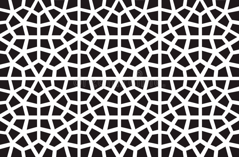 Vector islamic pattern. Vector symmetrical arabic islamic pattern background