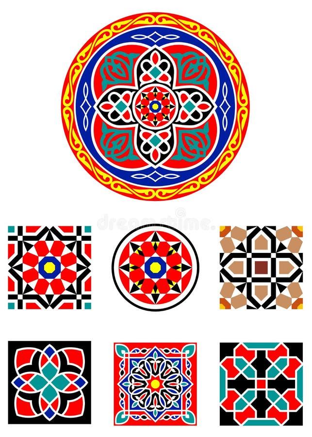 Vector Islamitische Ornamenten vector illustratie