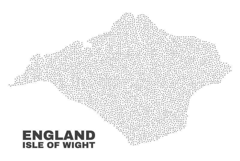 Vector Isle of Wight Map of Dots. Isle of Wight map designed with small points. Vector abstraction in black color is isolated on a white background. Scattered vector illustration