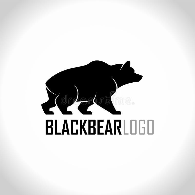 Vector isolated blackbear logo label royalty free illustration