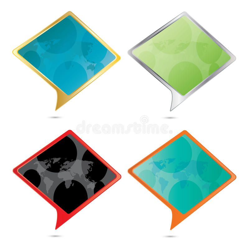 Vector Isolated Color speech bubble set