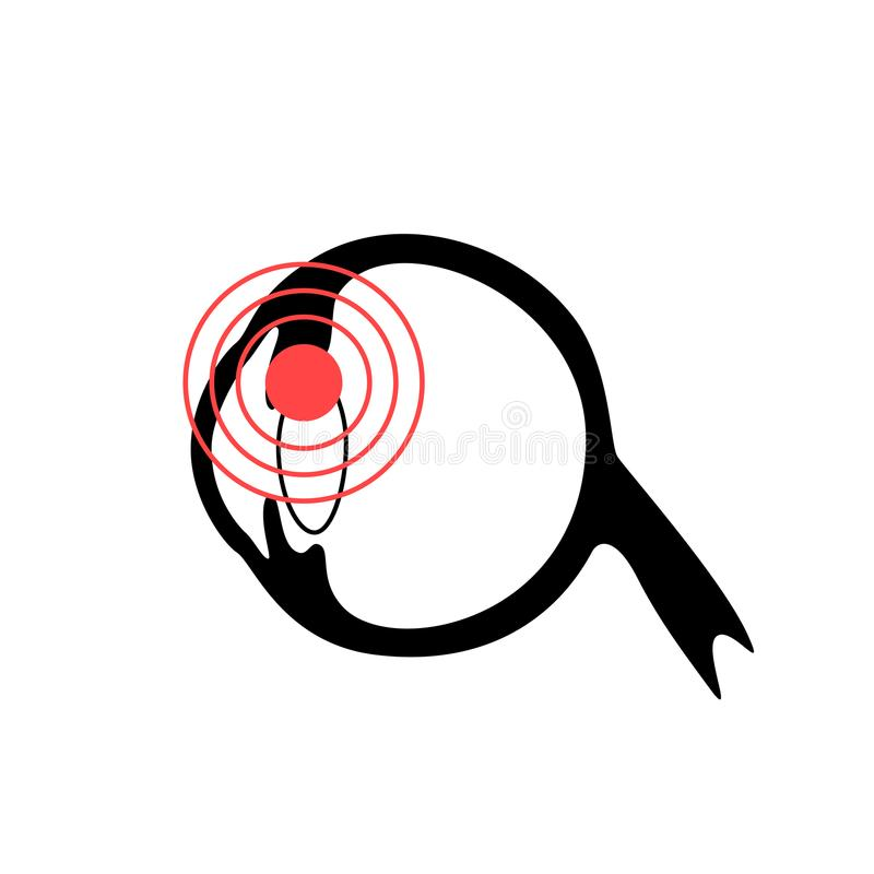 Vector isolated illustration of eye. Anatomy. Human ocular system icon. Healthcare medical center, surgery, hospital, clinic, diagnostic logo. Internal donor vector illustration