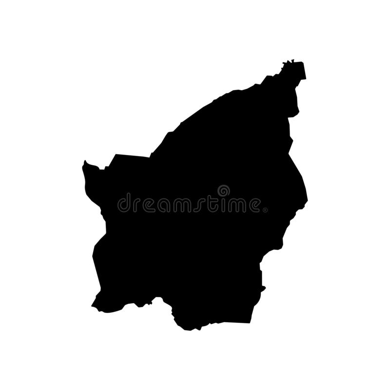 Basic RGB. Vector isolated illustration of political map of South Europe state - Republic of San Marino. Black silhouette. White background royalty free illustration