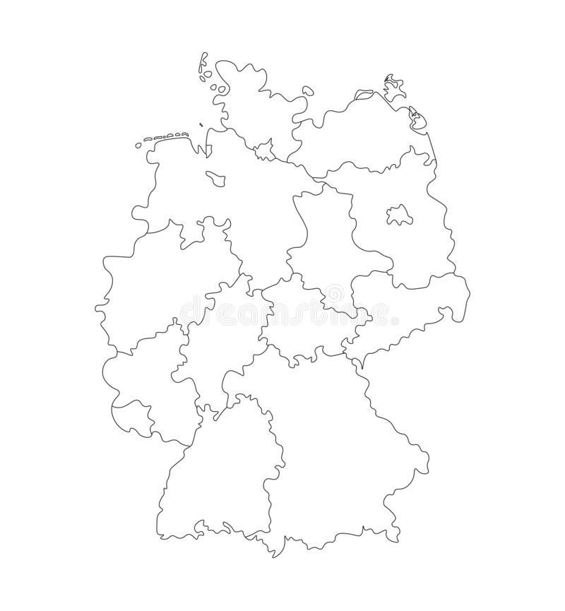 Administrative Map Of Germany Stock Illustration Illustration Of Germany Anhalt 42361877
