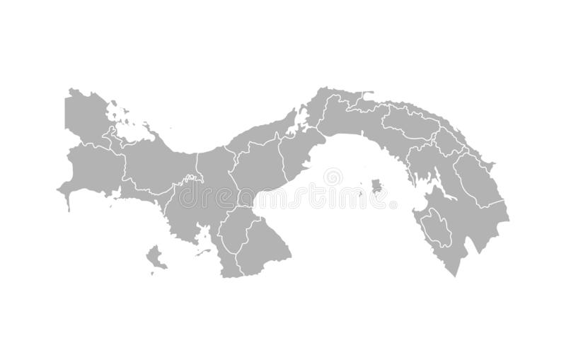 Vector isolated illustration of simplified administrative map of Panama. stock illustration