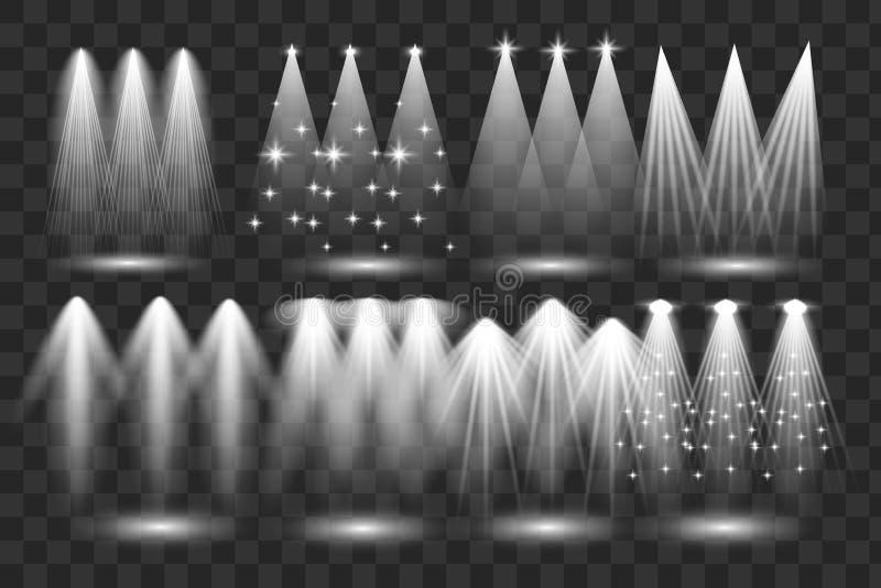 Scene illumination big collection vector illustration