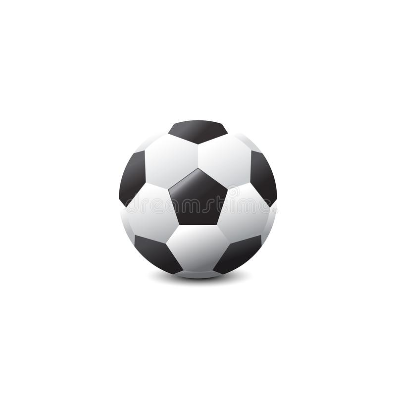 Vector isolated soccer ball in studio background illustration. Is a general illustration stock illustration