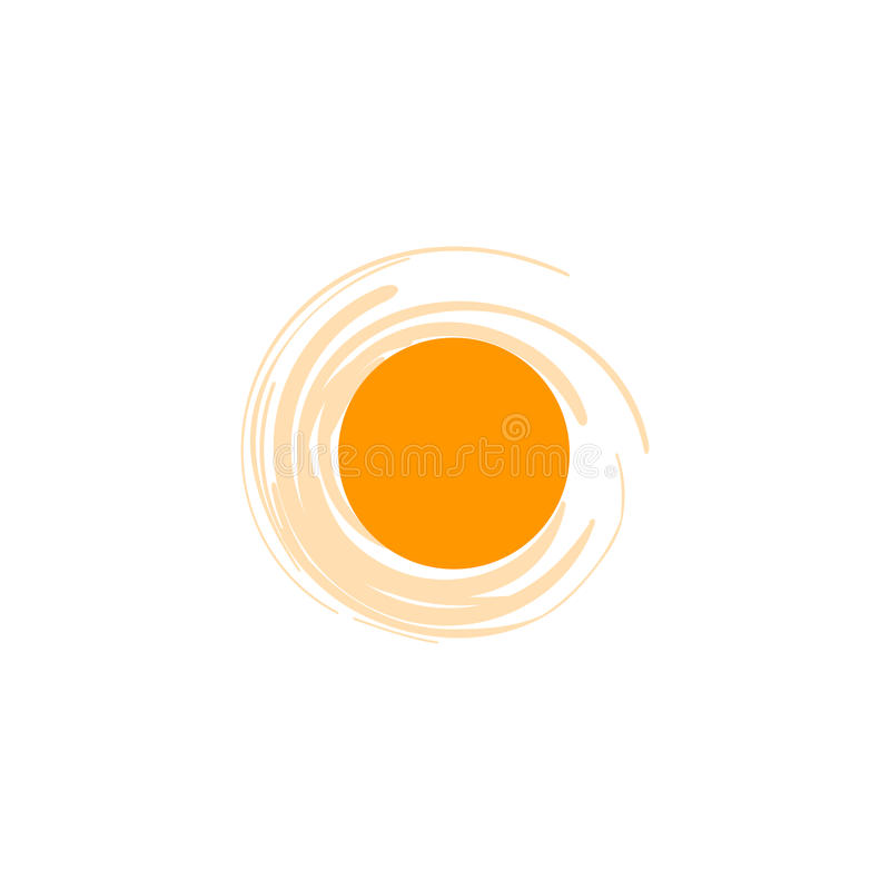Vector isolated sun logo design template. Abstract dots symbol. Round unusual shape. vector illustration