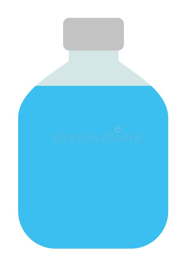 Vector isolated Travel jar with water. Design element for poster, card. Vector illustration. Flat vector cartoon royalty free illustration