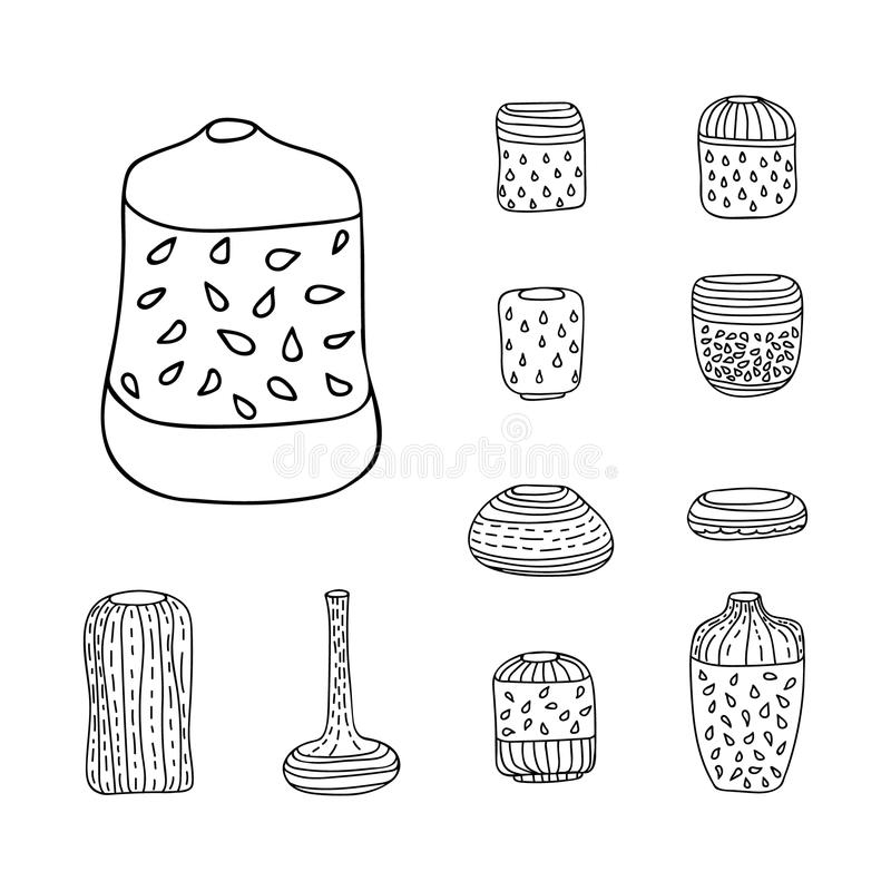 Vector Isolated Vases Set vector illustration
