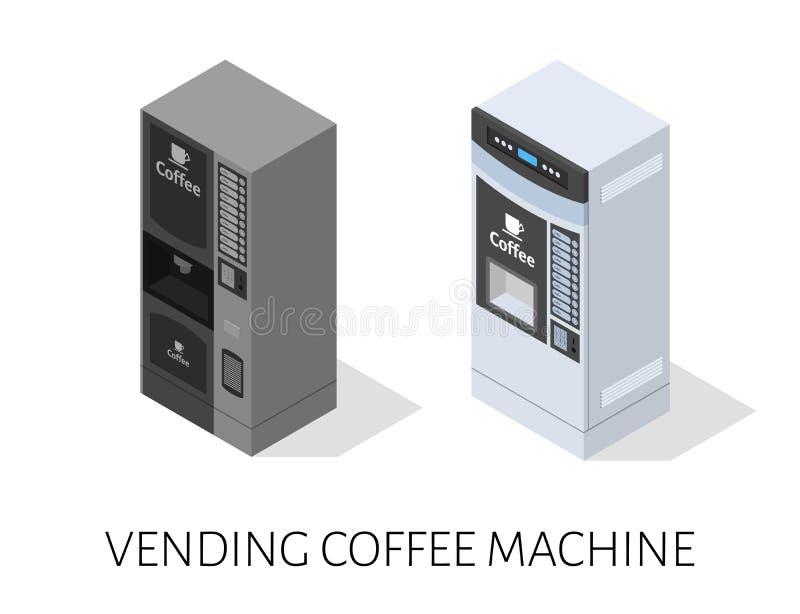 Vector isométrico de la máquina del café de la venta libre illustration