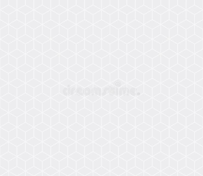 Vector isométrico gris sutil inconsútil del modelo de los cubos libre illustration