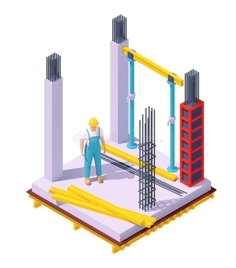 Free Vector Isometric Concrete Building Construction Stock Image - 159526461