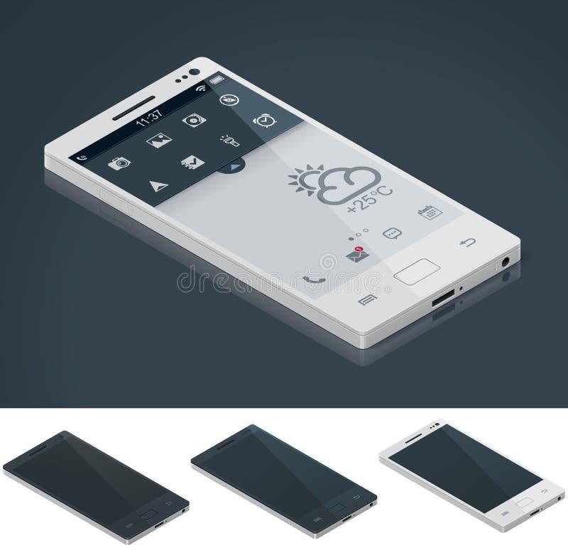 Vector isometric generic smartphone vector illustration