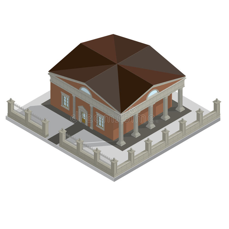 Vector isometric house royalty free illustration