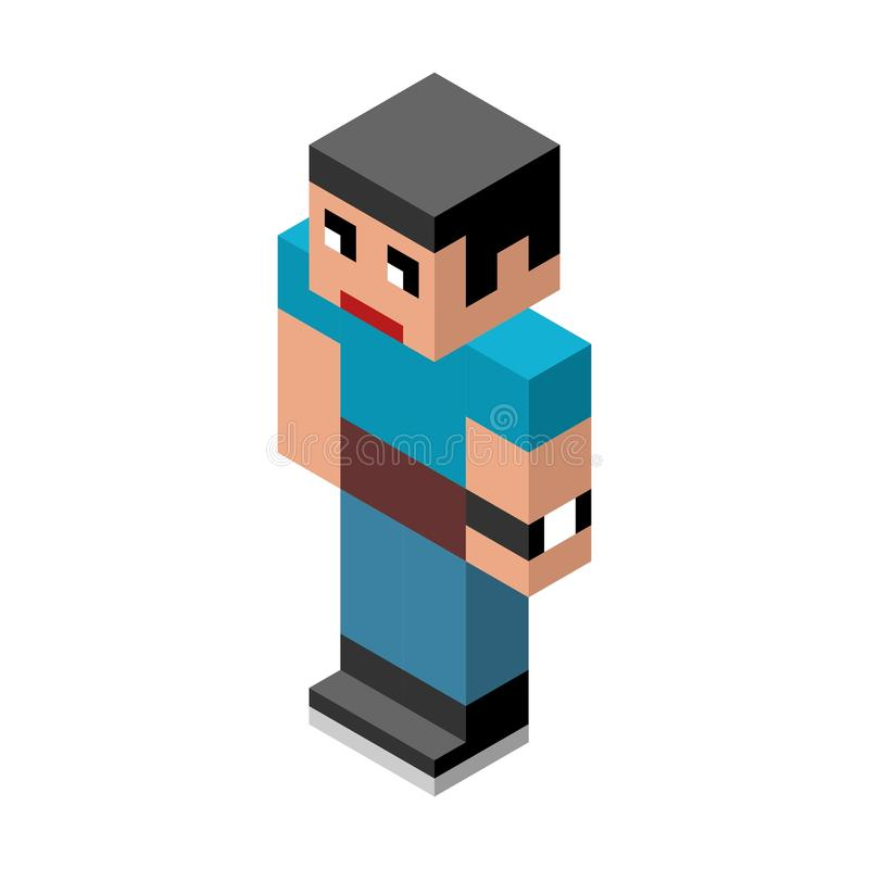 Vector isometric male person royalty free stock photo