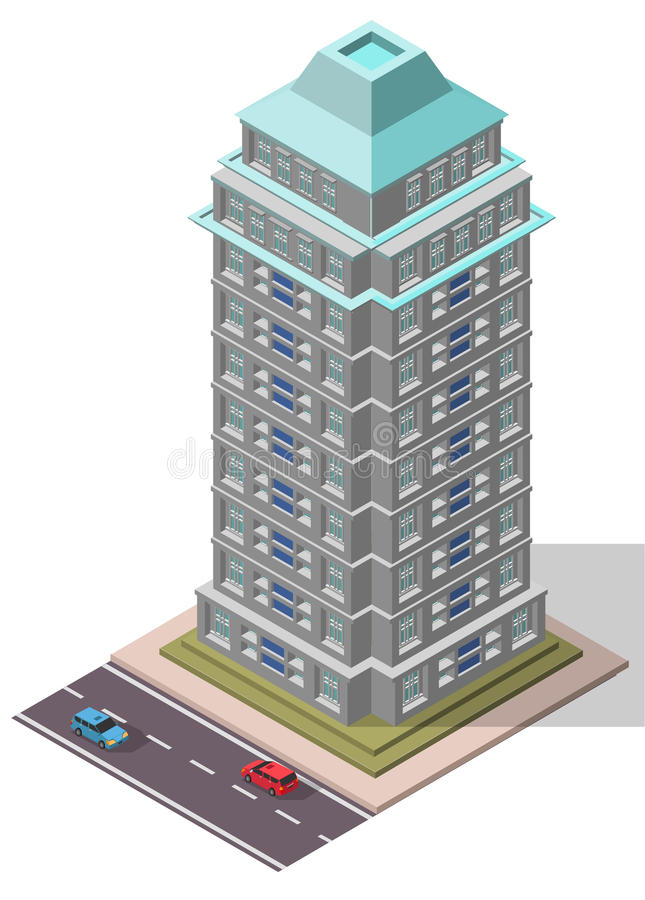 Free Vector Isometric Office Workplace Building Royalty Free Stock Photography - 61781747