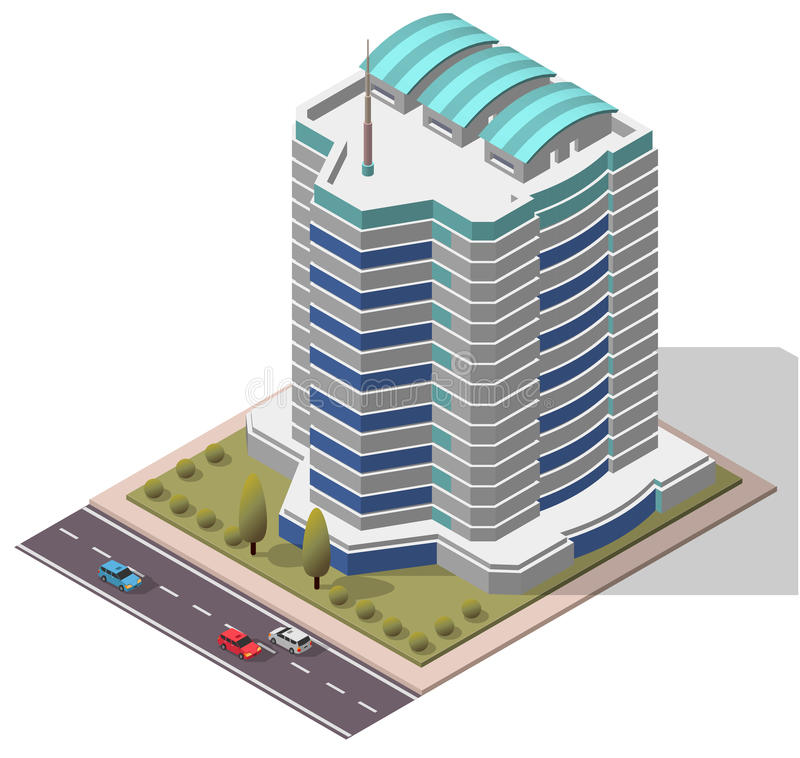 Free Vector Isometric Office Workplace Building Stock Photos - 61781793