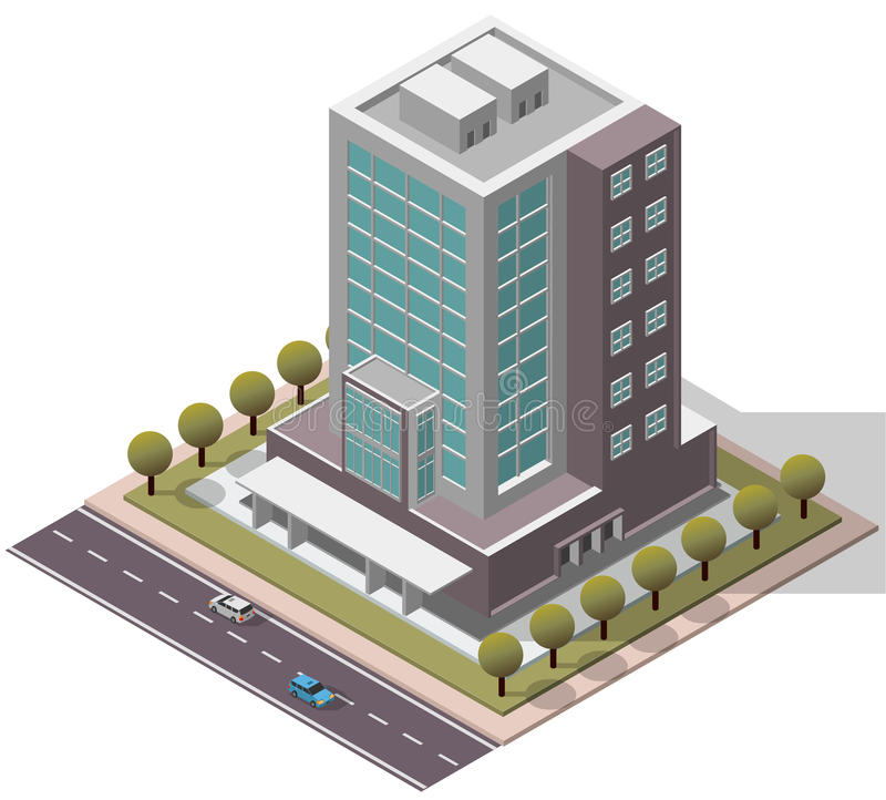 Free Vector Isometric Office Workplace Building Royalty Free Stock Photos - 61781818