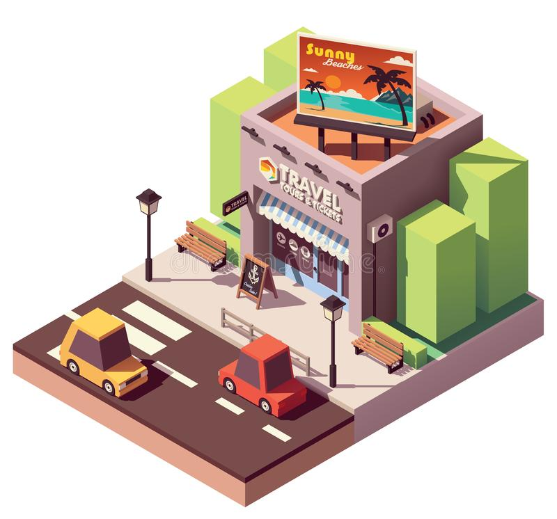 Vector isometric travel agency vector illustration