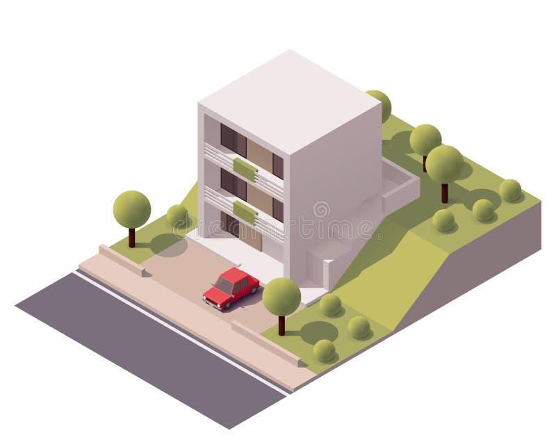 Vector isometrisch modern huis vector illustratie