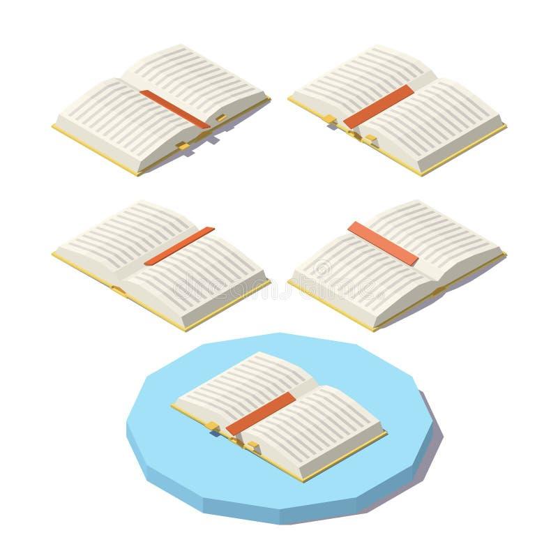 Vector Isometrisch open boek royalty-vrije illustratie