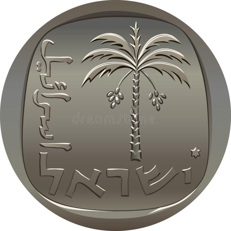 Vector Israeli Agora Coin Royalty Free Stock Photography