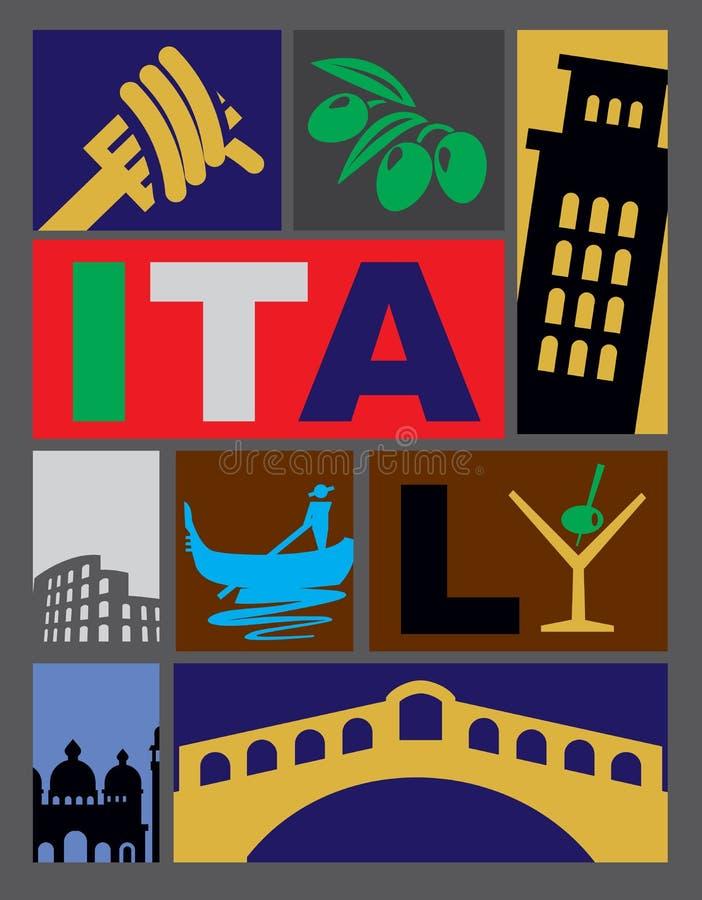 Vector Italië stock illustratie