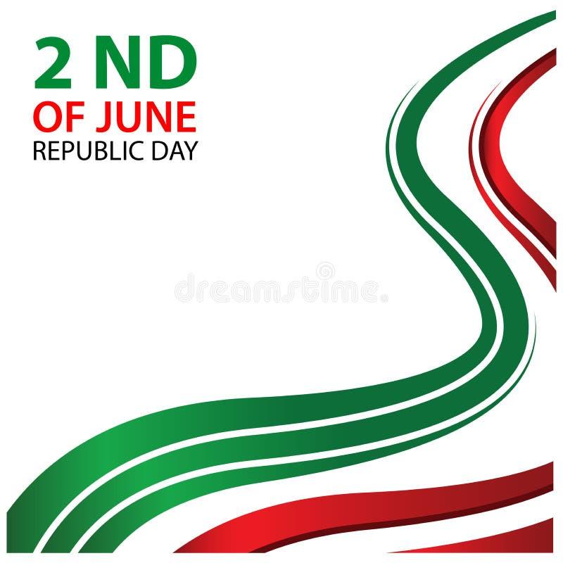 Vector Italien-Unabhängigkeitstag Hintergrund der Illustration abstrakten vom 2. Juni Designe für Poster, Hintergründe, Karten, F vektor abbildung