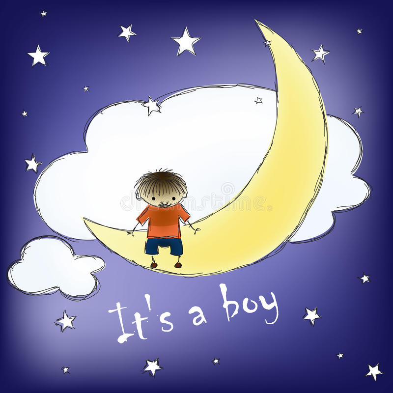Download Its a boy card stock vector. Illustration of night, celebration - 30234625