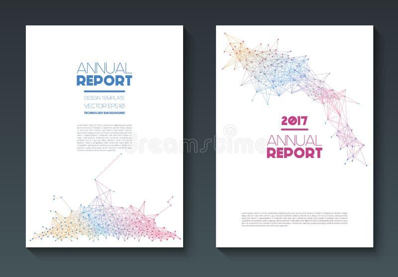 Vector jaarverslagmalplaatjes stock illustratie