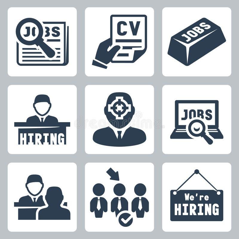 Vector job icons set vector illustration